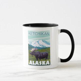 Mug Scène d'orignaux - Ketchikan, Alaska