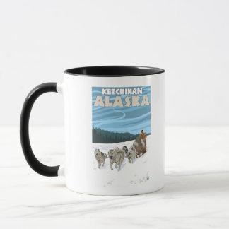 Mug Scène Sledding de chien - Ketchikan, Alaska