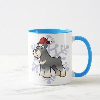 Mug Schnauzer de Noël
