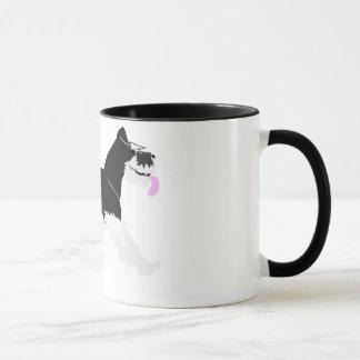 Mug Schnauzer noir et argenté