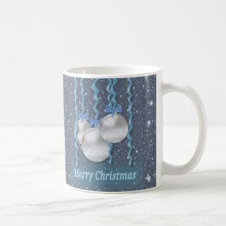 Mug Scintillement de rubans d'ornements de bleu de