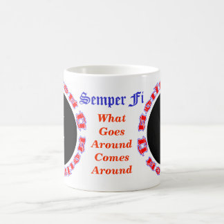 Mug Semper fi Ambigram avec l'image