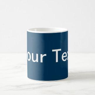 Mug SEULEMENT COULEUR/bleu-foncé + votre texte