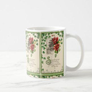 Mug Shamrocks et roses