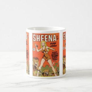 Mug Sheena : Bande dessinée de femme de jungle