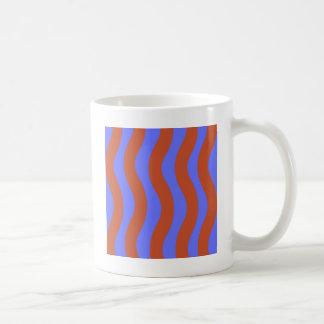 Mug Sienna et rayures onduleuses bleues