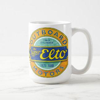 Mug Signe vintage superbe de moteur extérieur d'Elto