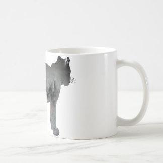 Mug Silhouette abstraite de léopard de neige