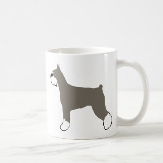 Mug silhouette de couleur de schnauzer