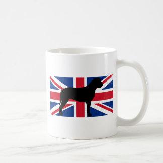 Mug silhouette de drapeau de bullmastiff