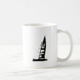 Mug Silhouette de voilier