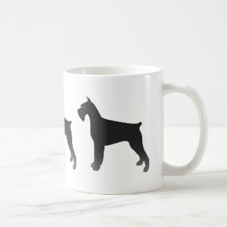 Mug Silhouette d'illustration de race de chien de