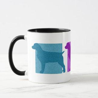Mug Silhouettes colorées d'épagneul de Boykin