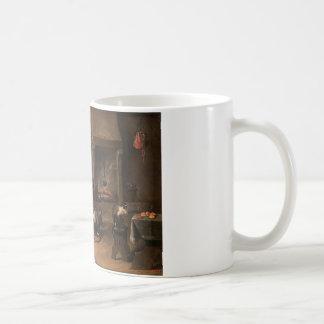 Mug Singes dans une cuisine par David Teniers le plus
