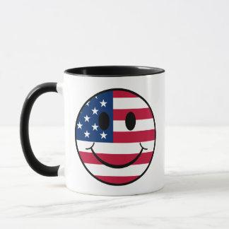 Mug Smiley patriotique