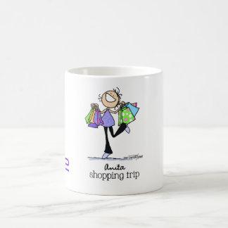 Mug Soutenu pour faire des emplettes - voyage d'achats