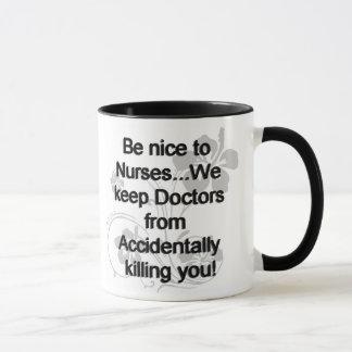 Mug Soyez Nice aux infirmières