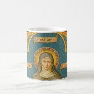 Mug St Clare d'Assisi et rouleaux des voeux (SAU 027)