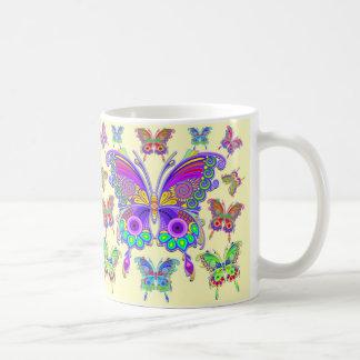 Mug Style coloré de tatouage de papillon