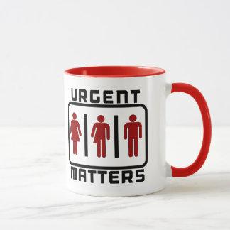 Mug SUJETS URGENTS : Toilette neutre Meme de genre
