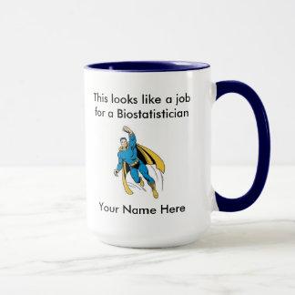 Mug Super héros de mâle de Biostatistician