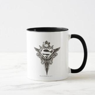 Mug Superman a stylisé le logo de blanc d'étoile et de
