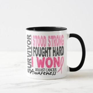 Mug Survivant 4 de cancer du sein