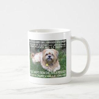 Mug Survivant de moulin de chiot - donnez à des chiens