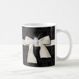 Mug sweet sixteen blanc de lustre de diamant d'arc