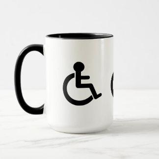 Mug Symbole handicapé par incapacité