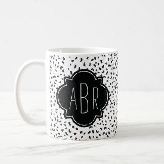 Mug Taches dalmatiennes noires et blanches modernes