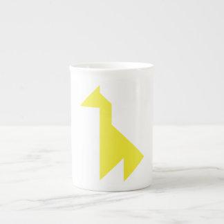 Mug Tangram jaune de girafe