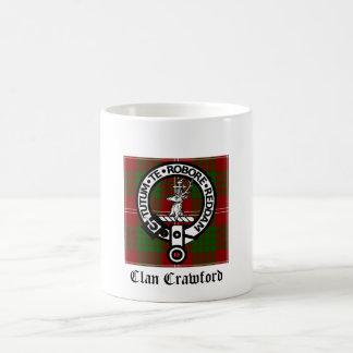 Mug Tartan de crête de Crawford de clan