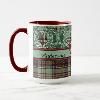 Mug Tartan d'écossais de plaid de clan d'Anderson