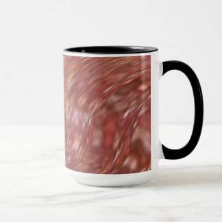 Mug Tasse. Chocolat de tourbillonnement chaud