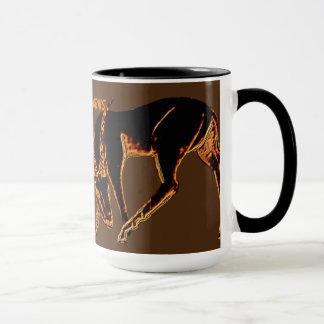 """Mug """"Tasse d'art de gazelle NE FERMEZ PAS À CLEF"""