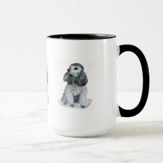 """Mug """"Tasse de café de caniche de sonnerie """""""