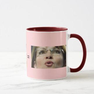 Mug Tasse/porc + Rouge à lèvres = Sara Palin