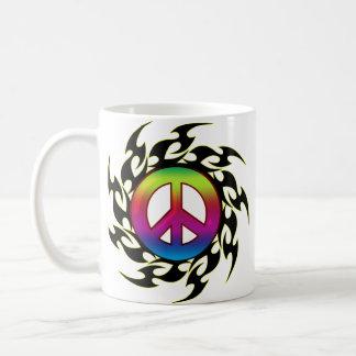 Mug Tatouage de paix d'arc-en-ciel