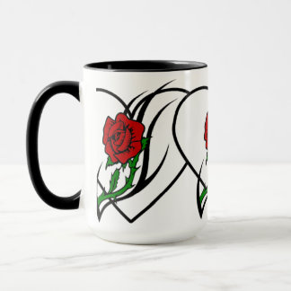 Mug Tatouage de rose rouge