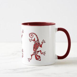 Mug Tatouage/henné de lézard en rouge