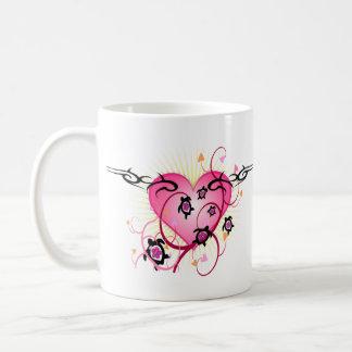 Mug Tatouage rose de coeur