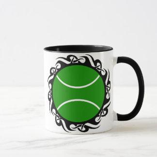 Mug tennis. tribal