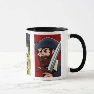 Mug Terre de pirate de Ninja de zombi