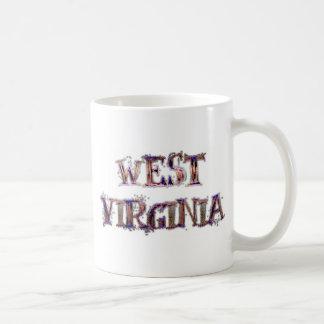 Mug Texte de grunge de la Virginie Occidentale