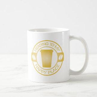 Mug thé heureux starbucks de café d'endroit