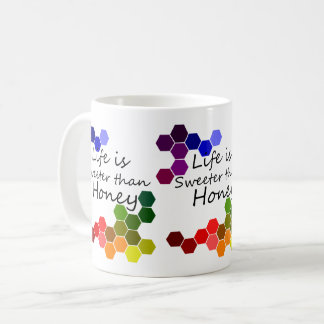 Mug Thème de miel avec des mots positifs
