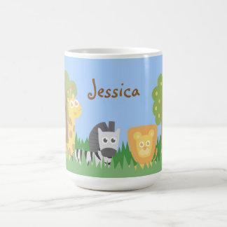 Mug Thème mignon et coloré d'animaux de safari