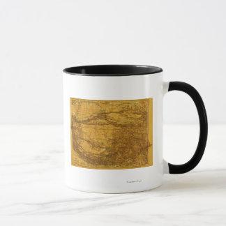 Mug TibetPanoramic MapTibet 2