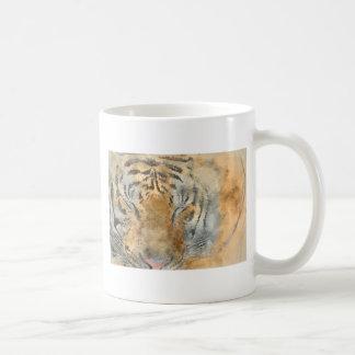 Mug Tigre étroit dans l'aquarelle